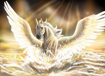 Angel horse