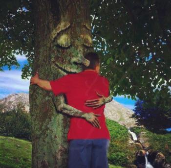Arbre homme hug