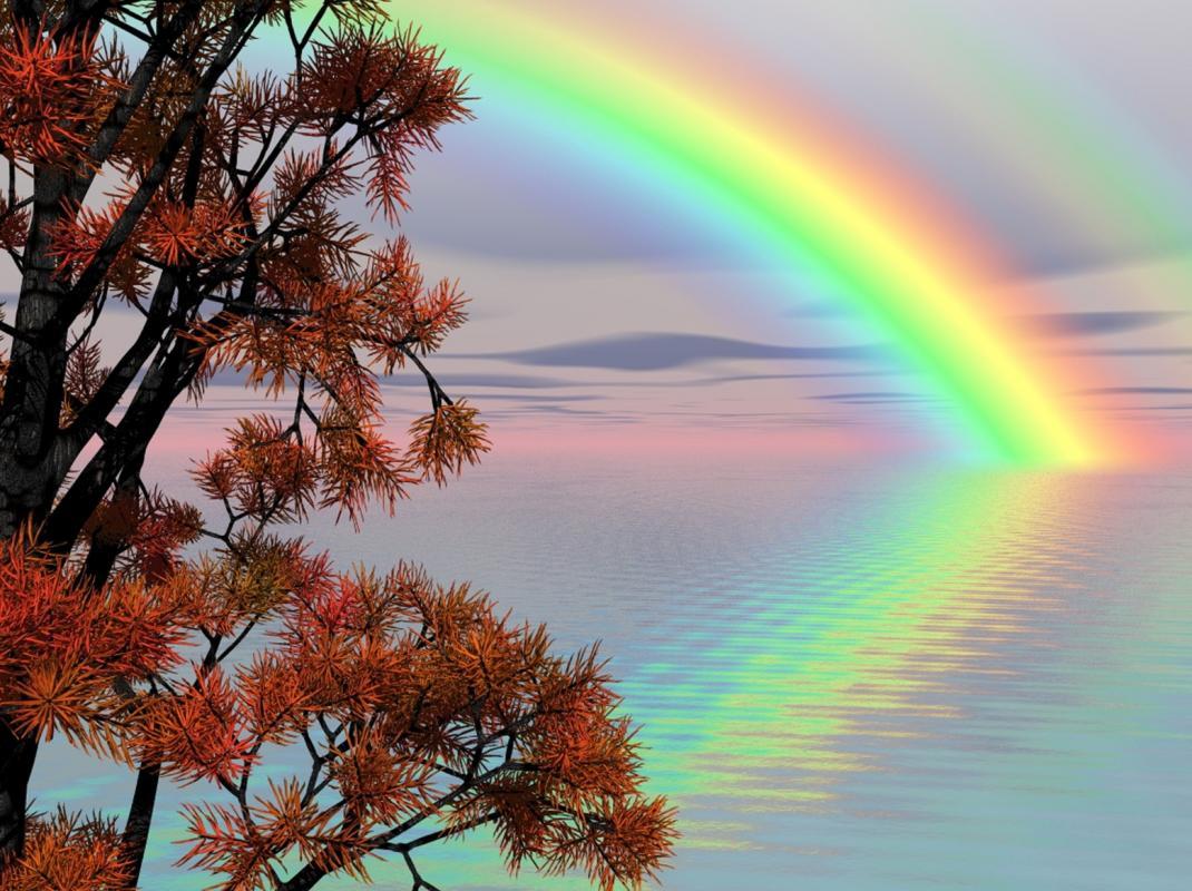 Arc en ciel eau