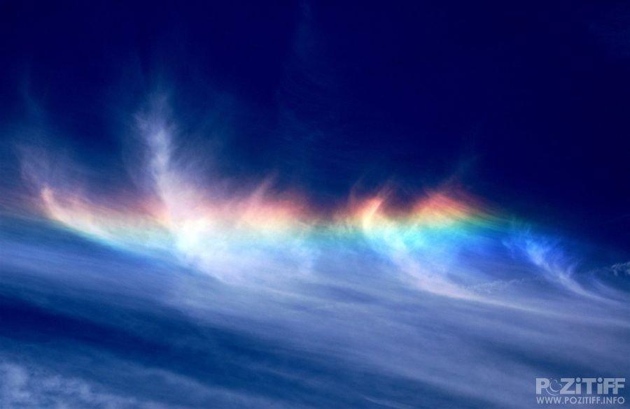 Arc en ciel nuages