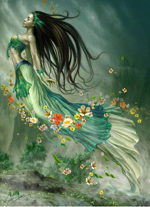 Belle femme et robe