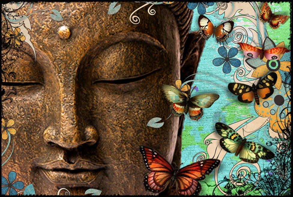 Bouddha papillons