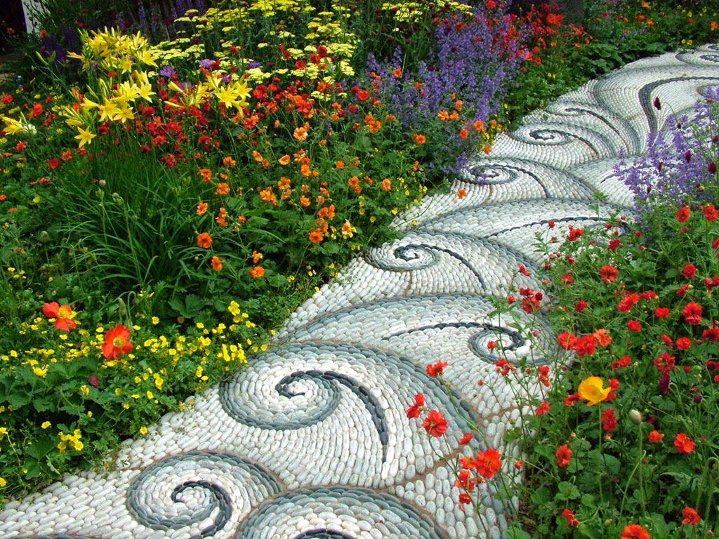 Chemin fleurs