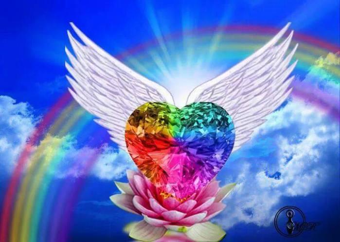 Coeur ailes lotus