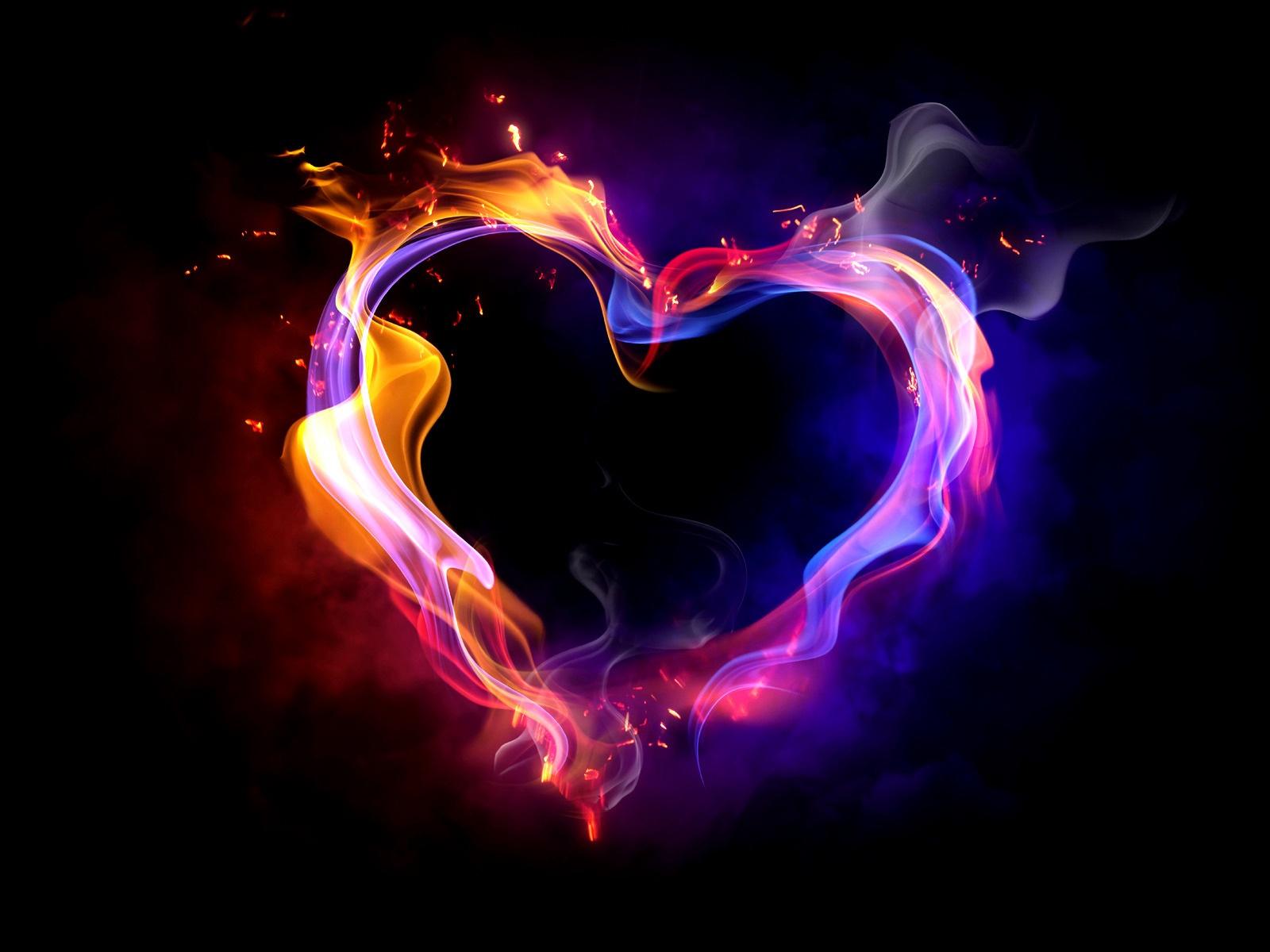 Coeur flammes