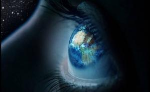 Cosmic eye and earth