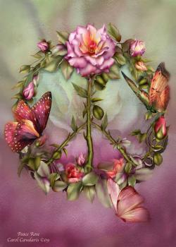 Couronne fleurs papillons