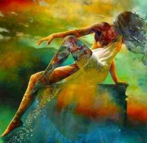 Donna arcobaleno colori