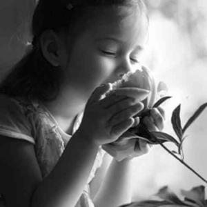 Enfant fleur lumiere