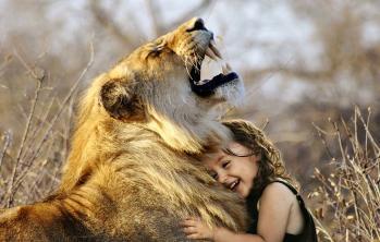 Enfant lion