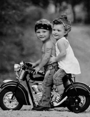 Enfants moto