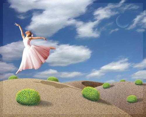 Esprit libre femme danse