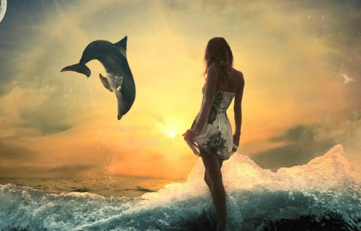 Femme dauphin