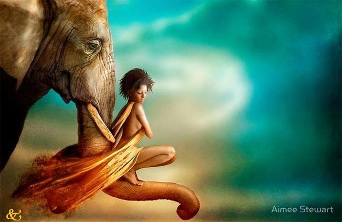Femme elephant
