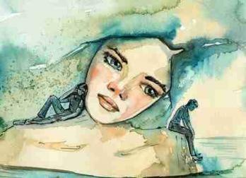 Femme pensant a ses souvenirs