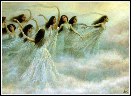 Femmes dans nuages