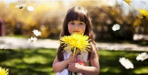 Fillette fleur