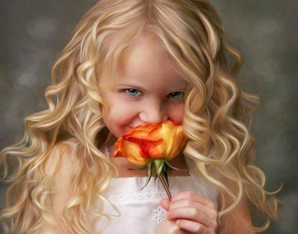 Fillette rose