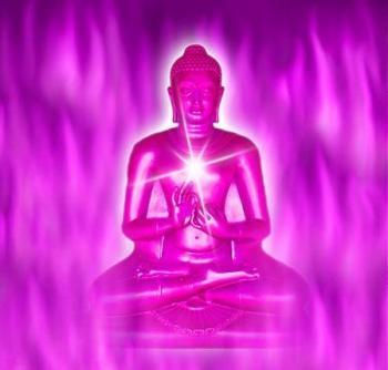 Flamme violette bouddha