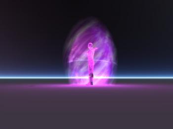 Flamme violette bulle