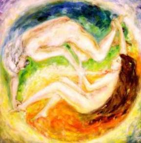 Flammes jumelles yin yang