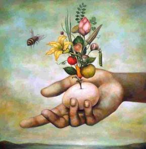 Fleur oeuf vie
