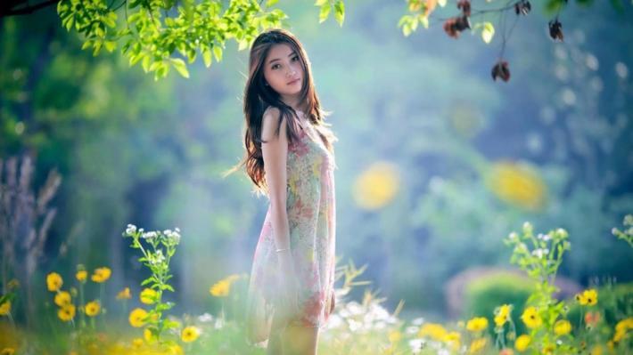 Girl nature