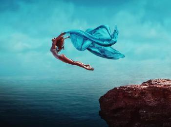Lacher prise femme sautant