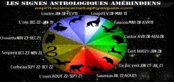 Les signes astrologiques amerindiens