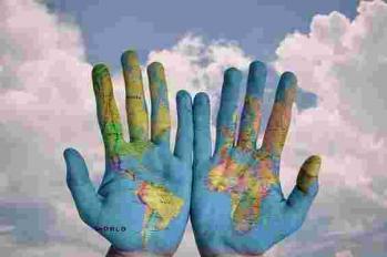 Monde mains