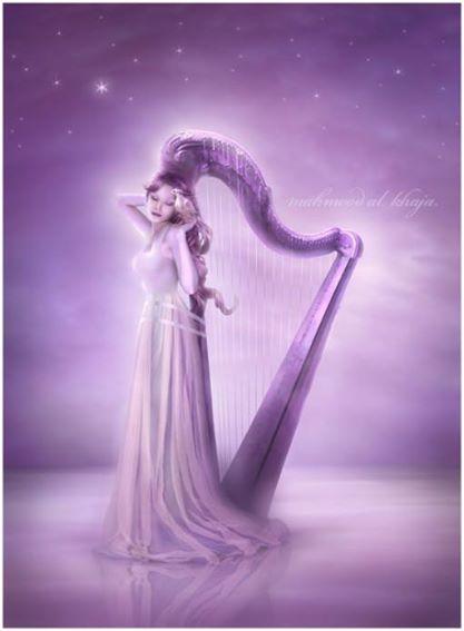 Musique femme harpe