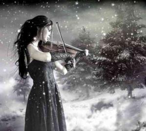 Musique femme neige