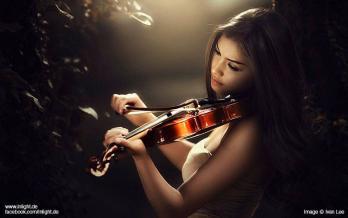 Musique femme violon