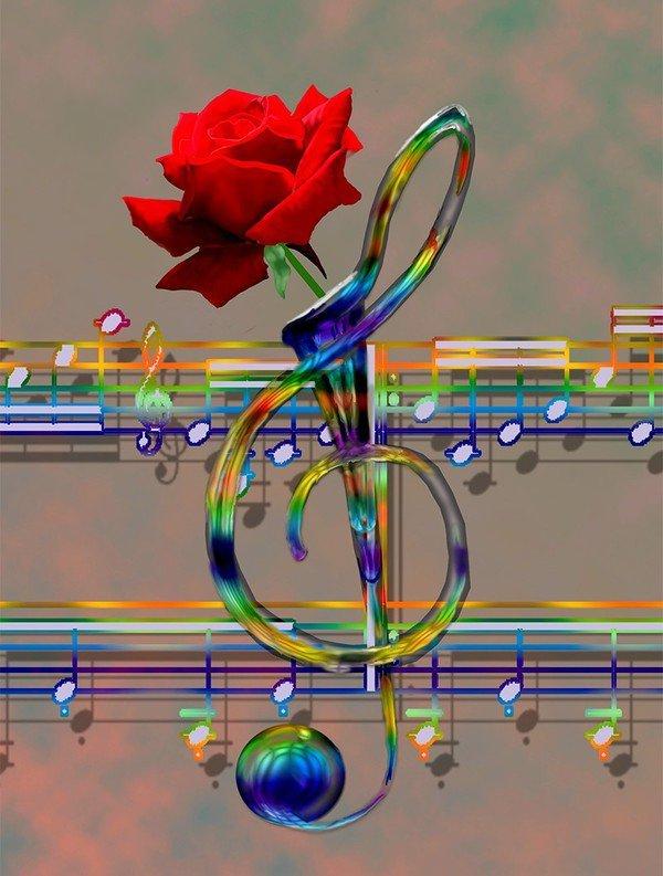 Musique fleur note