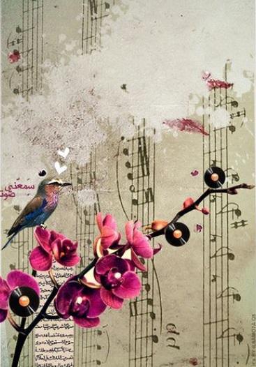 Musique oiseau fleur