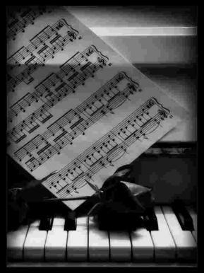 Musique piano fleur