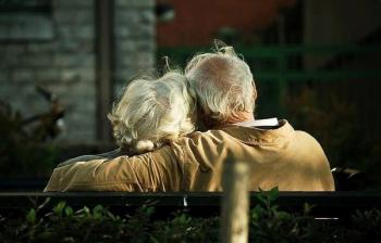 Older people in love