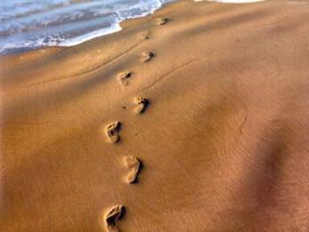 Pas sur sable