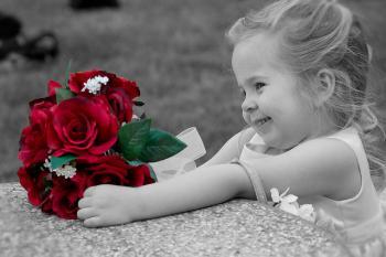 Roses fillette