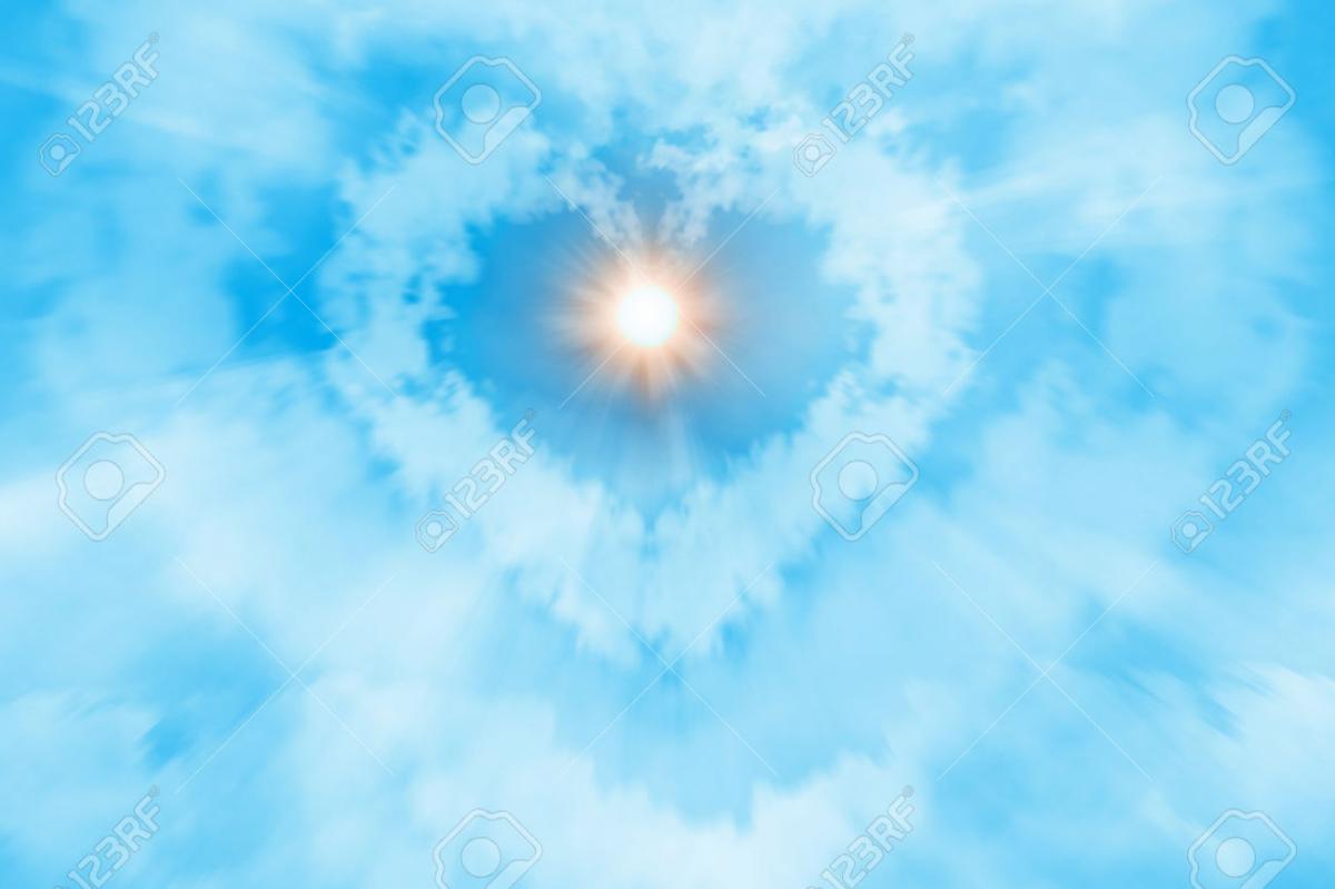 Soleil coeur