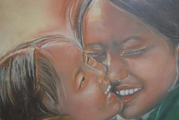 Sourire maman enfant