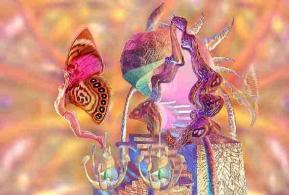 Transformation papillon femme